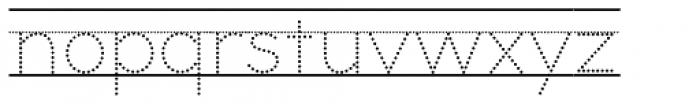 Bookbag Lined Dotted Font LOWERCASE