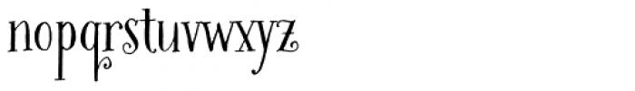 Bookeyed Martin Font LOWERCASE