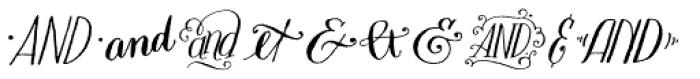 Bookeyed Sadie Ampersands Font UPPERCASE