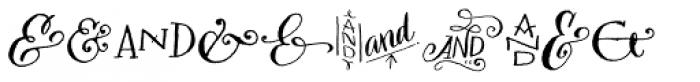 Bookeyed Sadie Ampersands Font LOWERCASE