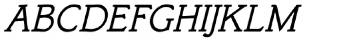 Bookish Italic Font UPPERCASE