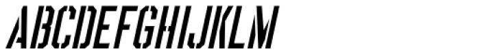 Boot Camp Oblique JNL Font UPPERCASE