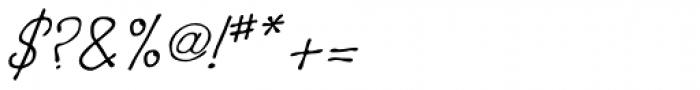Boracho Italic Font OTHER CHARS