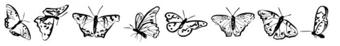 Borboleta Font UPPERCASE