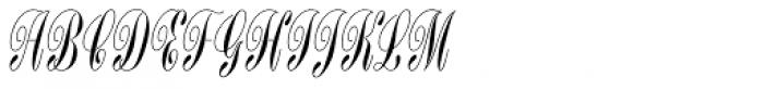 Bordeaux Std Script Font UPPERCASE