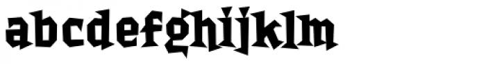 Bordello Bold Font LOWERCASE