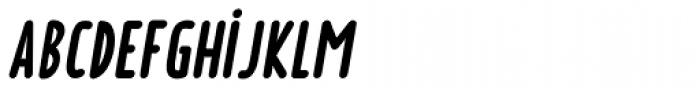 Borden bold italique Font LOWERCASE