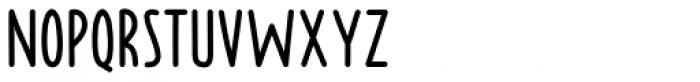 Borden regular Font LOWERCASE