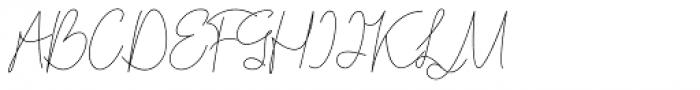 Bordershine Monoline Font UPPERCASE