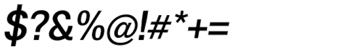 Boring Sans A Medium Italic Font OTHER CHARS