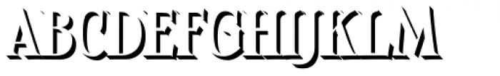 Boromir Caps Shadow Font LOWERCASE
