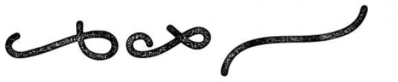 Bosk Hand Elements Press Bold Font LOWERCASE