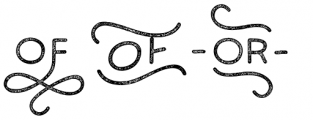 Bosk Hand Elements Press Font UPPERCASE