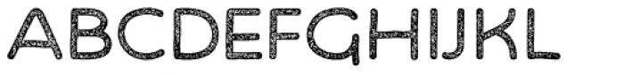 Bosk Hand Press Font UPPERCASE