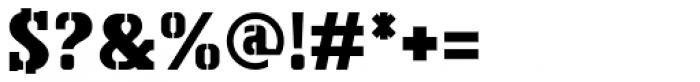 Bosko Stencil Font OTHER CHARS