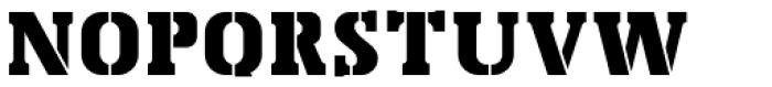 Bosko Stencil Font UPPERCASE