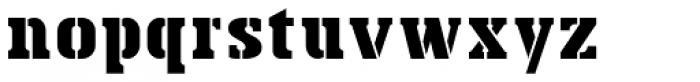 Bosko Stencil Font LOWERCASE