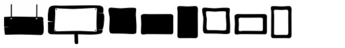 Bosque Dingbats Font UPPERCASE