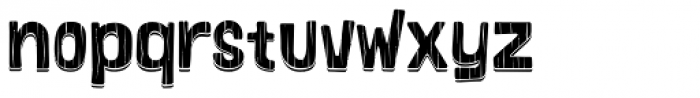 Bosque Wood Shadow Font LOWERCASE