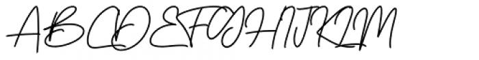 Boss Signature Regular Font UPPERCASE