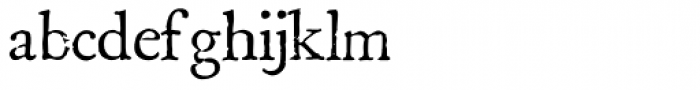 Boswell Bold Font LOWERCASE