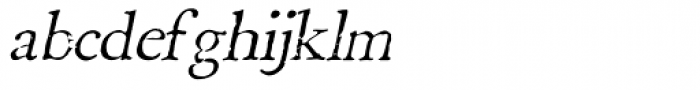Boswell Italic Font LOWERCASE