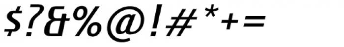 Botegga Oblique Font OTHER CHARS