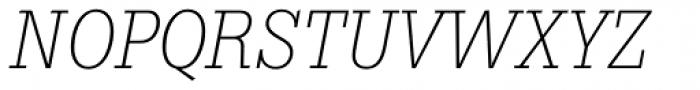 Boton Light Italic Font UPPERCASE