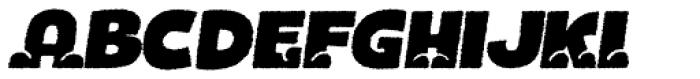 Bototo Rough Italic Font UPPERCASE