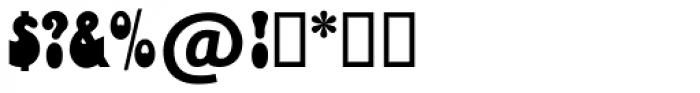 Bottleneck SH Regular Font OTHER CHARS