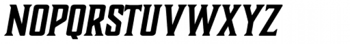 Boucherie Block Bold Italic Font UPPERCASE