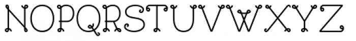 Bouclettes Bold Font UPPERCASE