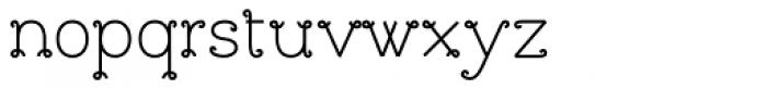 Bouclettes Bold Font LOWERCASE