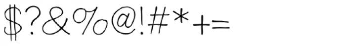 Boudoir Light Font OTHER CHARS