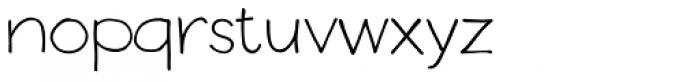Boudoir Light Font LOWERCASE