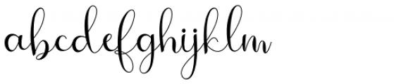 Bougainvillea Regular Font LOWERCASE