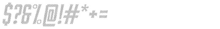 Bourbon Lines Oblique Font OTHER CHARS
