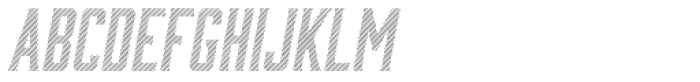Bourbon Lines Oblique Font LOWERCASE