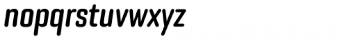 Bourgeois Rounded Bold Condensed Italic Font LOWERCASE