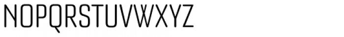 Bourgeois Rounded Light Condensed Font UPPERCASE