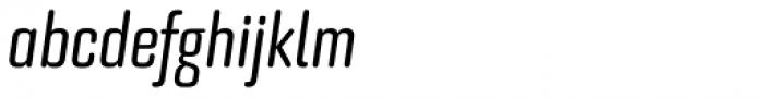 Bourgeois Rounded Medium Condensed Italic Font LOWERCASE