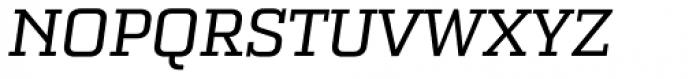 Bourgeois Slab Medium Italic Font UPPERCASE