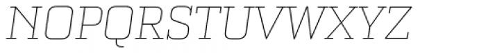 Bourgeois Slab Thin Italic Font UPPERCASE