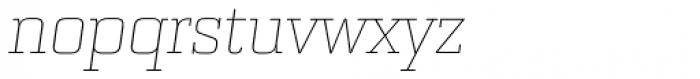 Bourgeois Slab Thin Italic Font LOWERCASE