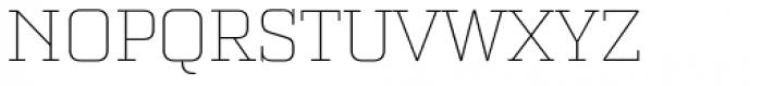 Bourgeois Slab Thin Font UPPERCASE
