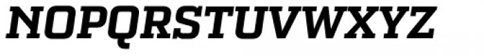 Bourgeois Slab UltraBold Italic Font UPPERCASE
