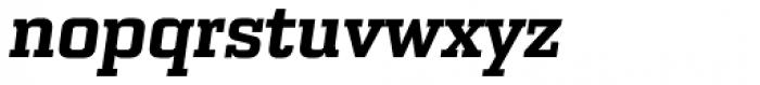 Bourgeois Slab UltraBold Italic Font LOWERCASE