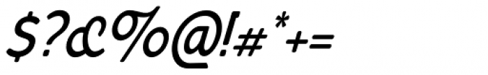 Bourne Condensed Oblique Demi Font OTHER CHARS