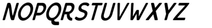 Bourne Condensed Oblique Demi Font UPPERCASE