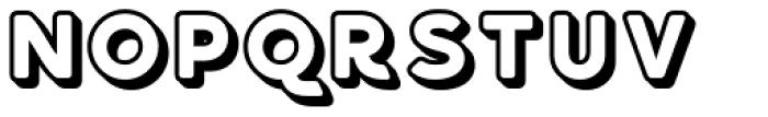 Bourne Embossed Font UPPERCASE